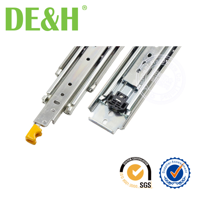 Durable industrial heavy duty drawer slide with locking device
