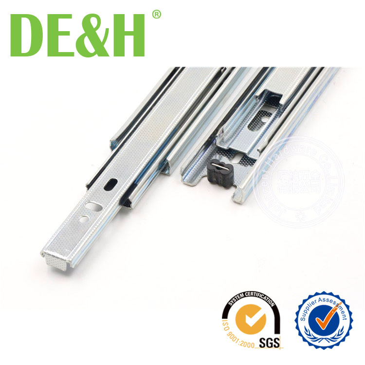 35mm width Hettich galvanized sheet material drawer slide