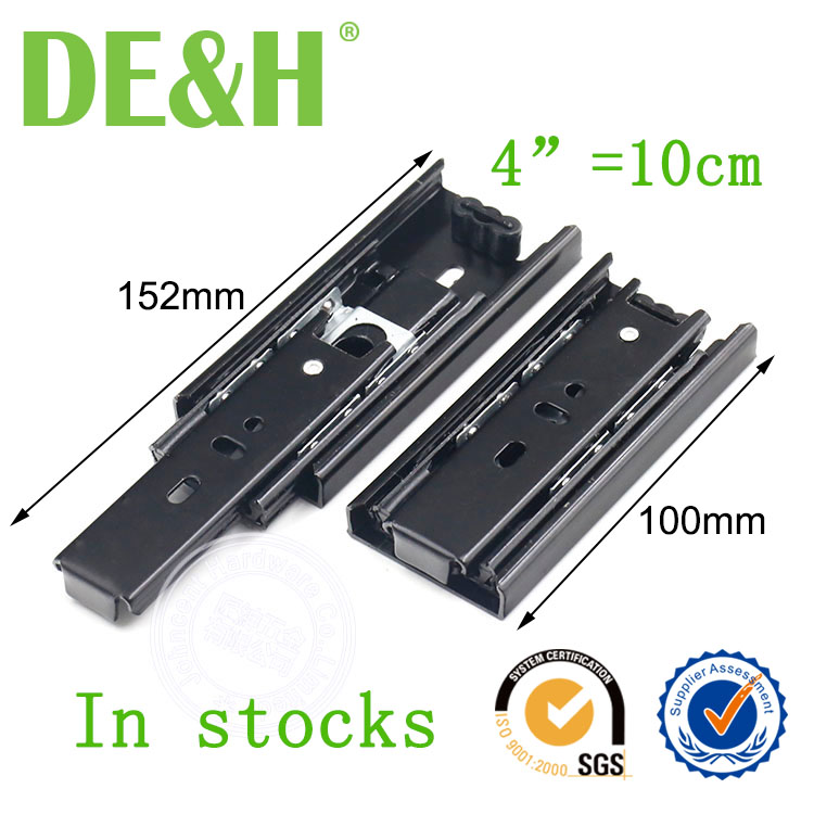 4 inches 10cm mini drawer slide 3 fold drawer slide